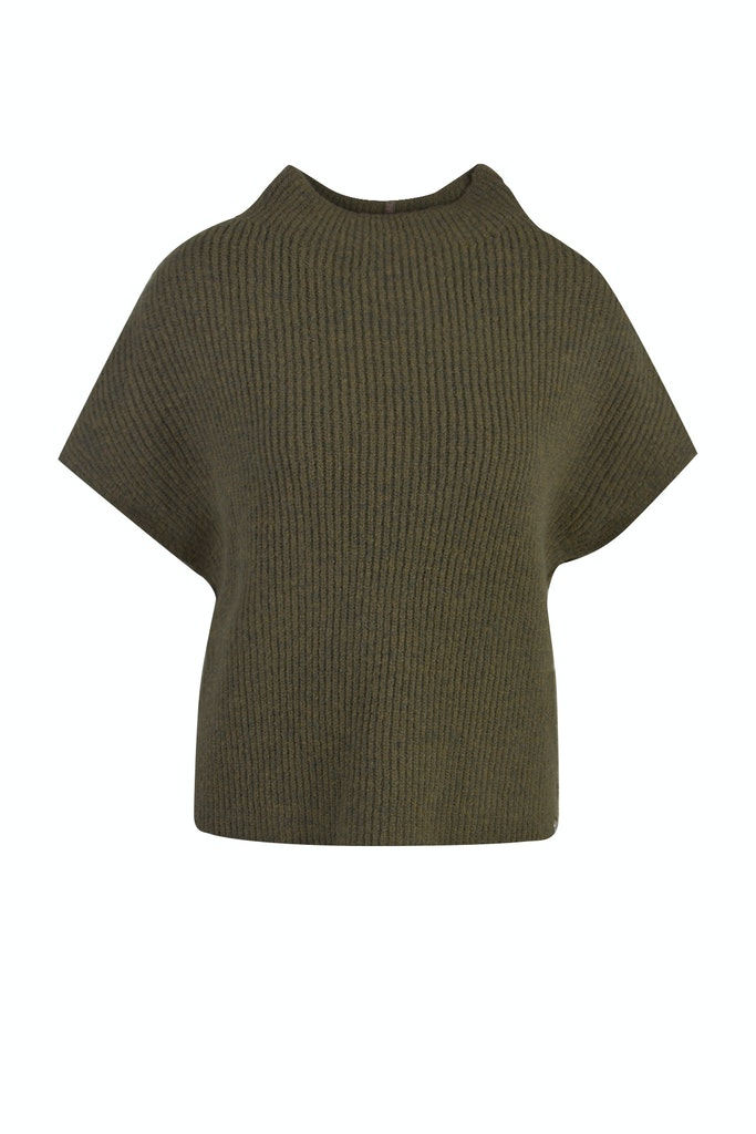 Knitted stand collar Slipover