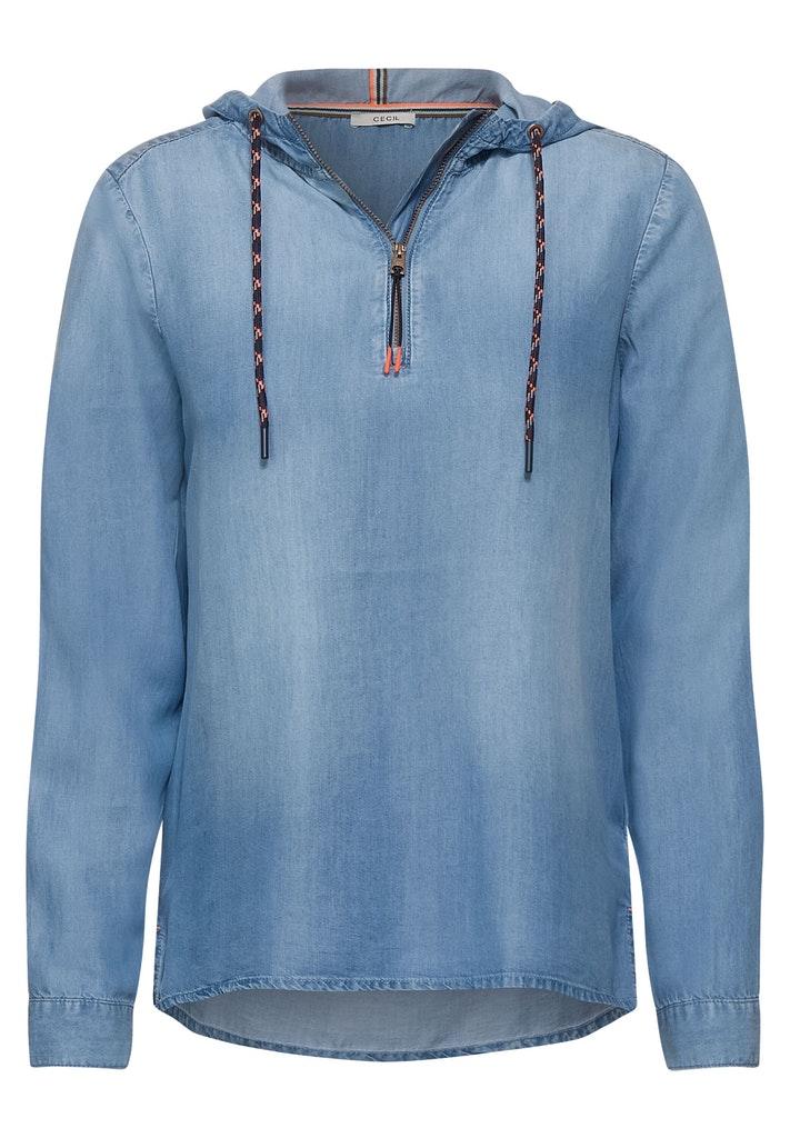 Hoodie Bluse aus Tencel