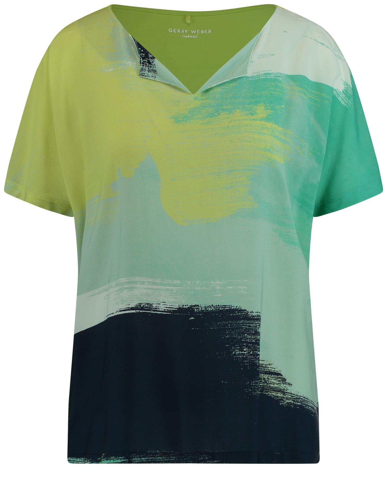Shirt mit offenem Ausschnitt EcoVero