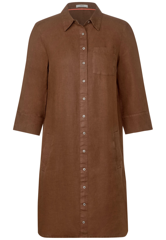 Kurzes Polo-Kleid aus Leinen