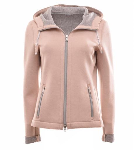 Jacke aus softem Viskose-Jersey, Scuba -Look, Made in Europe