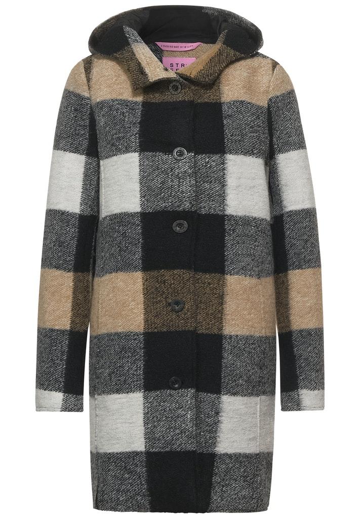 Mantel mit Karo Muster